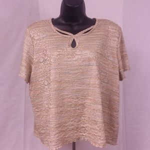 Alfred Dunner Womens Petite XL Multicolored Blouse
